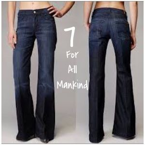 7 For All Mankind Ginger Dark Wash Flare Jeans 25